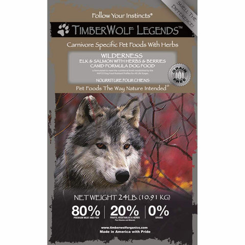 Timberwolf Legends Wilderness Elk & Salmon Grain Free Dry Dog Food
