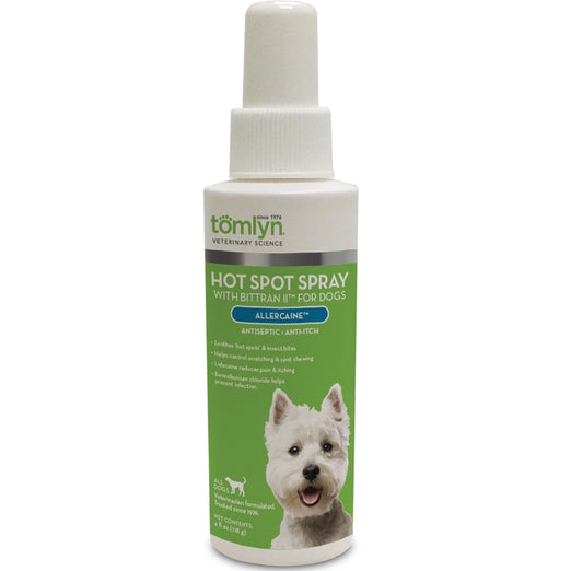 Tomlyn Allercaine Hot Spot Spray With Bittran II for Dogs - Kohepets