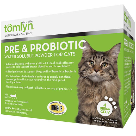 Tomlyn Pre & Probiotic Water Soluble Powder for Cats 60g