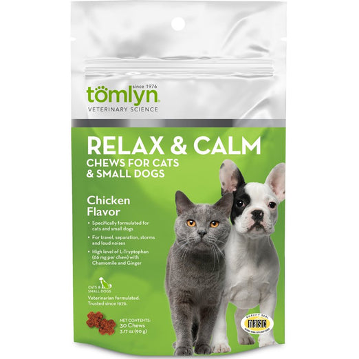 Tomlyn Relax & Calm Chews for Cats & Small Dogs (30 Chews)