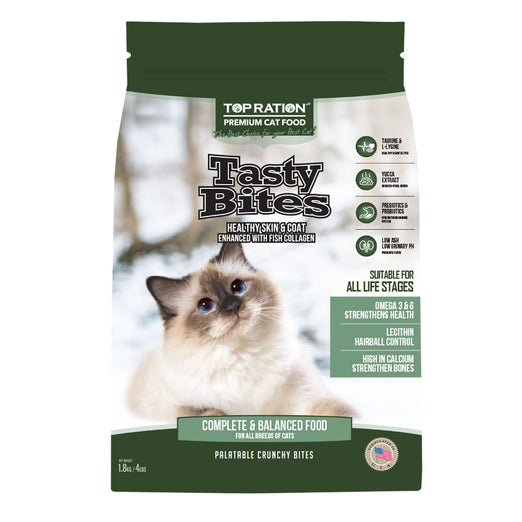 Top Ration Tasty Bites All Life Stages Dry Cat Food - Kohepets