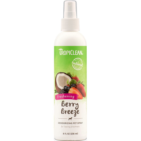Tropiclean Berry Breeze Deodorizing Pet Spray 8oz - Kohepets