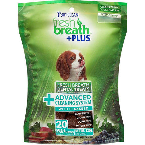 Tropiclean Fresh Breath Plus Advanced Cleaning System Dental Chews - Kohepets