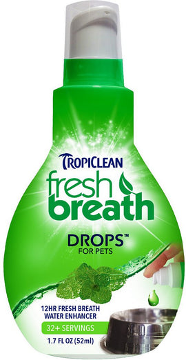 Tropiclean Fresh Breath Drops 65ml - Kohepets
