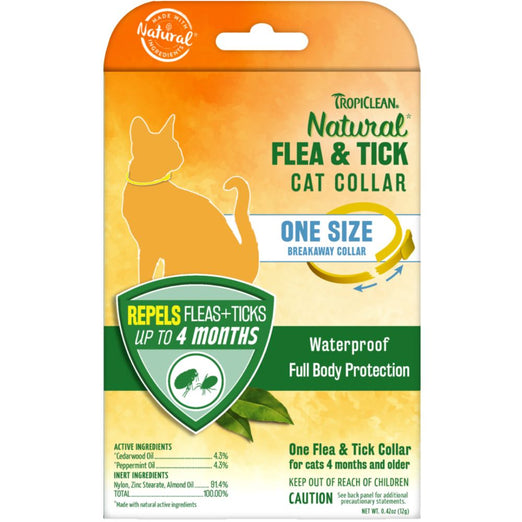 TropiClean Natural Flea & Tick Cat Collar - Kohepets