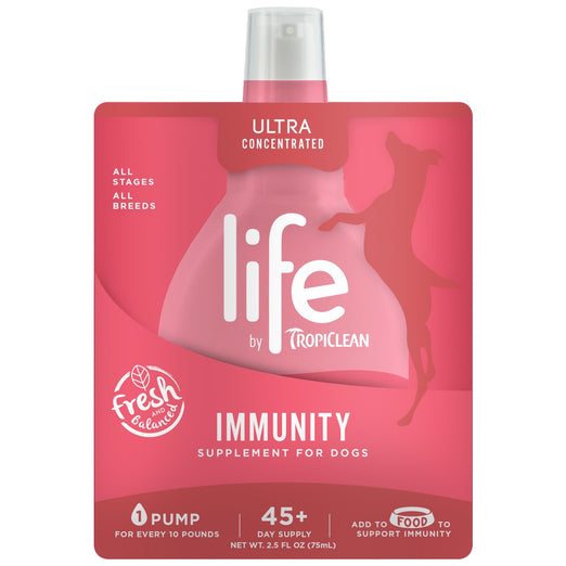 Life by Tropiclean Immunity Supplement for Dogs 2.5oz - Kohepets