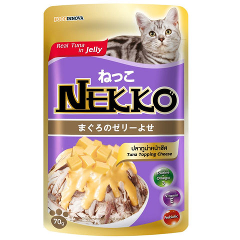 20% OFF: Nekko Tuna With Cheese Pouch Cat Food 70g - Kohepets