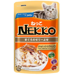 '50% OFF': Nekko Tuna With Katsuobushi Pouch Cat Food 70g (Exp 25 Mar 19)