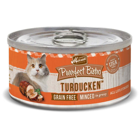 Merrick Purrfect Bistro Grain Free Turducken Canned Cat Food 156g