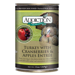 Addiction Turkey with Cranberries & Apples Entree Canned Dog Food 368g