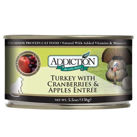 Addiction Turkey With Cranberries & Apples Entree Canned Cat Food 156g