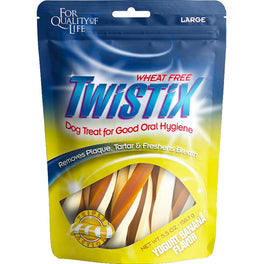 Twistix Yogurt Banana Large Dental Dog Treats 156g