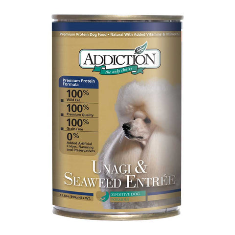 Addiction Unagi & Seaweed Entree Canned Dog Food 390g