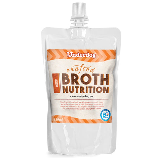 Underdog Bone Broth Beef Dog Food Topper (Frozen) 350ml - Kohepets