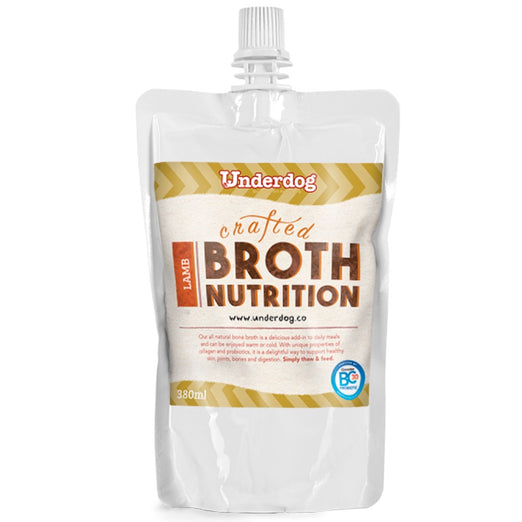 12% OFF: Underdog Bone Broth Lamb Dog Food Topper (Frozen) 350ml (LIMITED TIME)