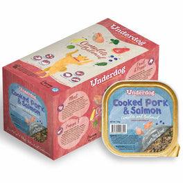 FREE TREATS: Underdog Cooked Pork & Salmon Complete & Balanced Frozen Dog Food 1.2kg