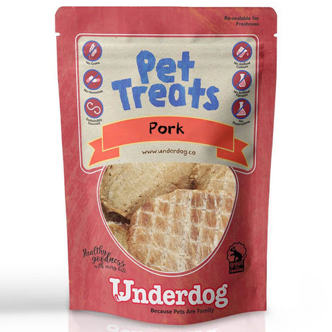 Underdog Pork Air Dried Dog Treats TRIAL PACK 40g - Kohepets