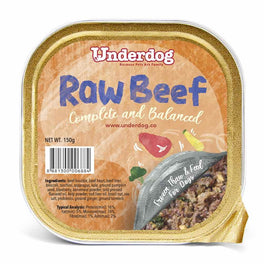'50% OFF' (EXP Nov 19) : Underdog Raw Beef Complete & Balanced Frozen Dog Food 150g