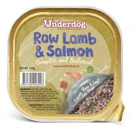 Underdog Raw Lamb & Salmon Complete & Balanced Frozen Dog Food 150g