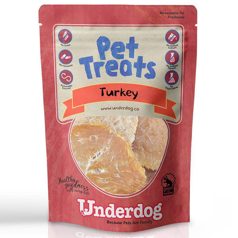 Underdog Turkey Air Dried Dog Treats 80g - Kohepets
