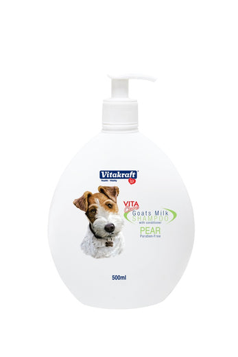 Vitakraft 2-in-1 Goat's Milk Shampoo For Dogs Pear 500ml - Kohepets