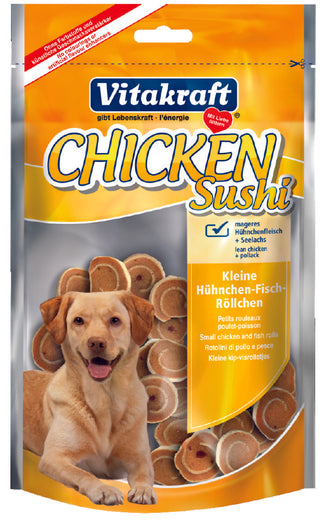 Vitakraft Chicken Sushi Dog Treat 80g - Kohepets