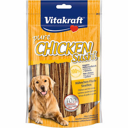 Vitakraft Chicken with Fish Sushi Strips Dog Treat 80g