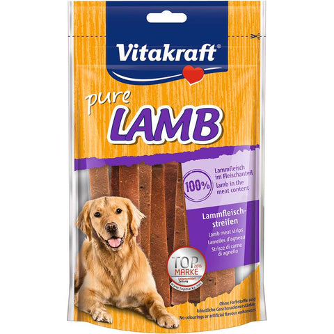 Vitakraft Lamb Strips Dog Treat 80g - Kohepets