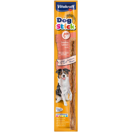 'FREE WITH MIN $140': Vitakraft Smokey Salmon Dog Stick Dog Treat 15g