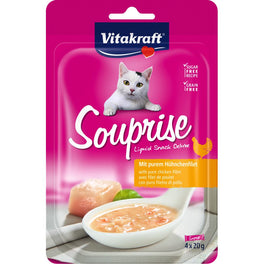 Vitakraft Souprise With Pure Chicken Fillet Grain Free Liquid Cat Treats 80g