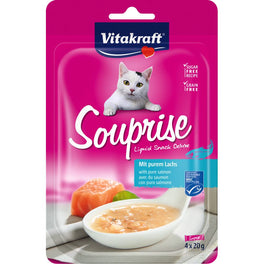 '55% OFF': Vitakraft Souprise With Pure Salmon Grain Free Liquid Cat Treats 80g (Exp 23 Oct 19)