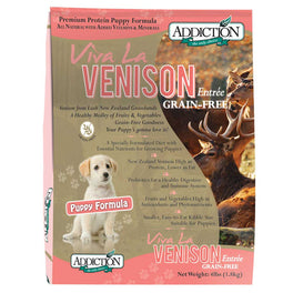 Addiction Viva La Venison Puppy Grain Free Dry Dog Food