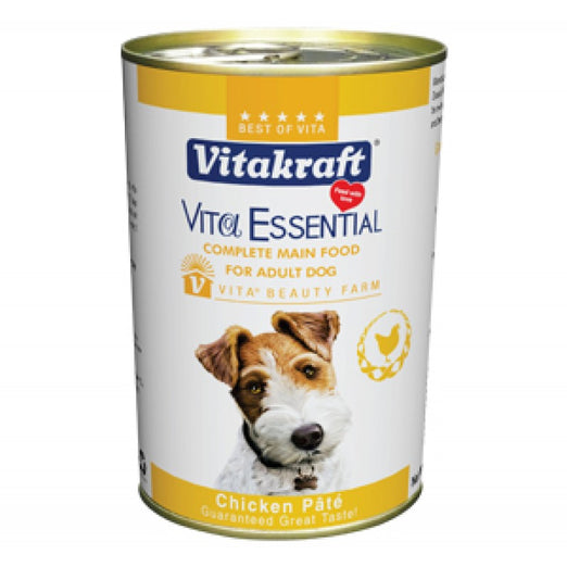 Vitakraft Vita Essential Chicken Pate Canned Dog Food 680g - Kohepets