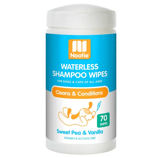 Nootie Waterless Shampoo Cat & Dog Wipes (Sweet Pea & Vanilla) 70ct