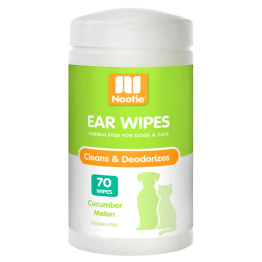 Nootie Cat & Dog Ear Wipes (Cucumber Melon) 70ct