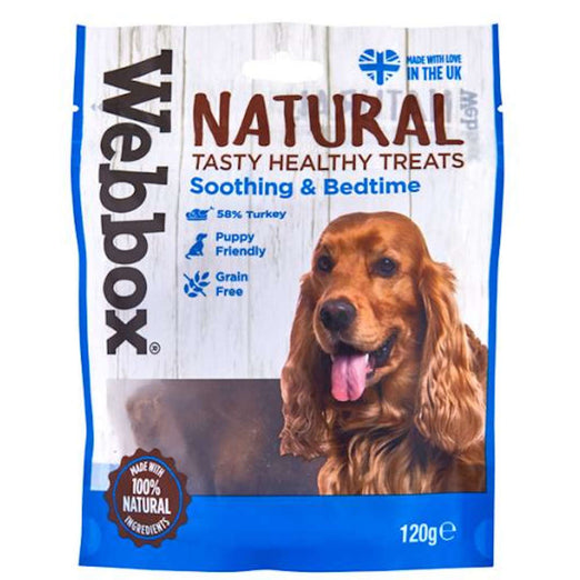 3 FOR $13.80: Webbox Natural Soothing & Bedtime Grain-Free Dog Treats 120g - Kohepets