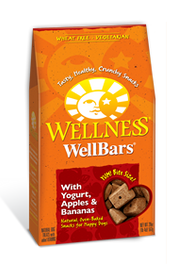 Wellness WellBars Yogurt, Apples & Bananas Dog Treat 20oz