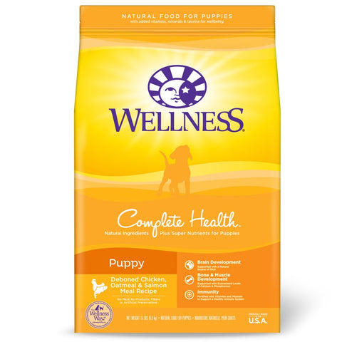 Wellness Complete Health Puppy Chicken, Oatmeal & Salmon Dry Dog Food