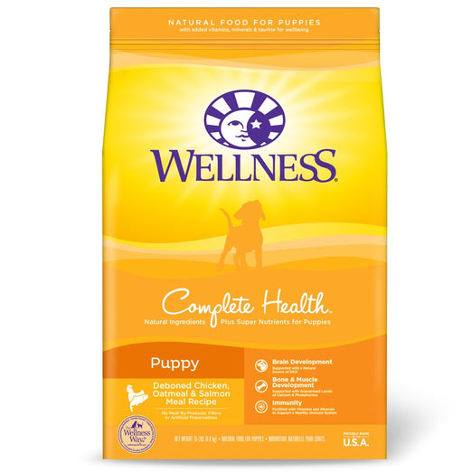 Wellness Complete Health Puppy Chicken, Oatmeal & Salmon Dry Dog Food - Kohepets