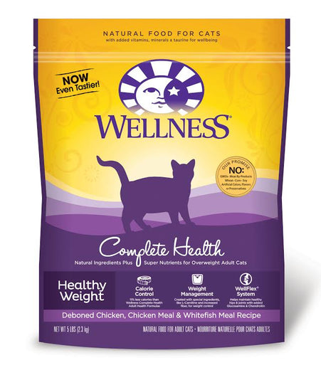 Wellness Complete Health Healthy Weight Dry Cat Food 5lb - Kohepets