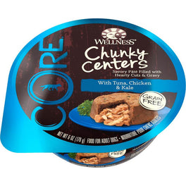 BUY 3 GET 1 FREE: Wellness CORE Chunky Centers Tuna, Chicken & Kale Wet Dog Food 6oz