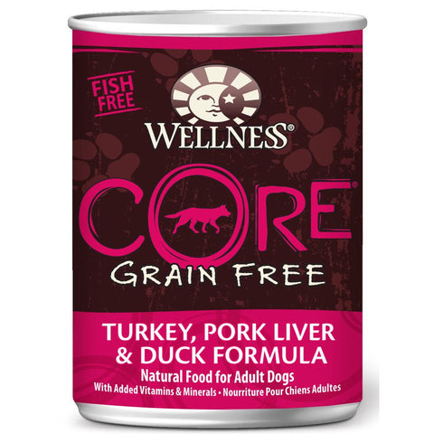 20% OFF: Wellness CORE Grain-Free Turkey, Pork Liver & Duck Canned Dog Food 354g - Kohepets