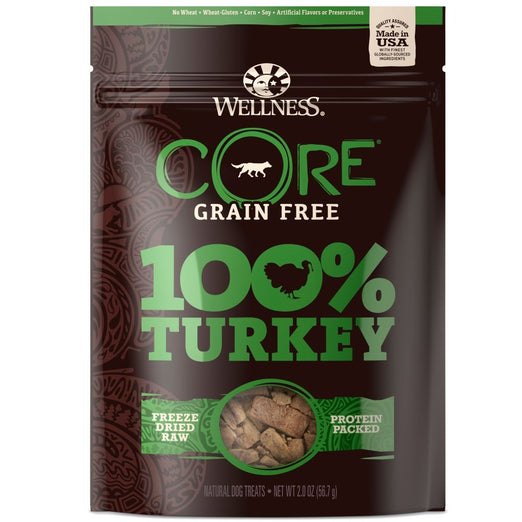 15% OFF: Wellness CORE 100% Turkey Freeze Dried Dog Treats 2oz