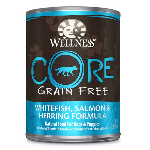 20% OFF: Wellness CORE Grain-Free Salmon, Whitefish & Herring Canned Dog Food 354g - Kohepets