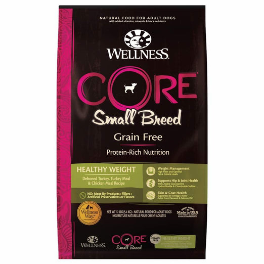 Wellness CORE Grain-Free Small Breed Healthy Weight Formula Dry Dog Food - Kohepets