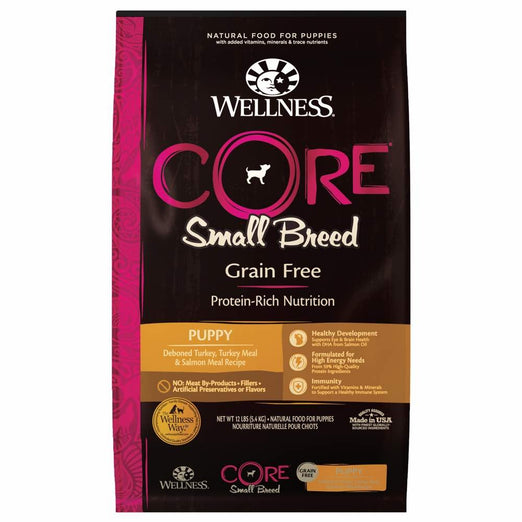 Wellness CORE Grain-Free Small Breed Puppy Formula Dry Dog Food - Kohepets