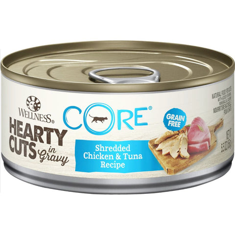 Wellness CORE Hearty Cuts Shredded Chicken & Tuna Canned Cat Food 156g