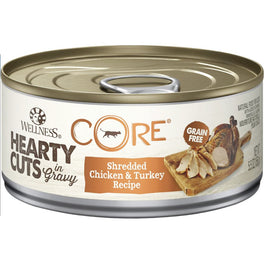 Wellness CORE Hearty Cuts Shredded Chicken & Turkey Canned Cat Food 156g