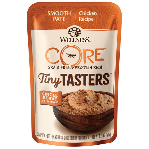 BUY 3 GET 1 FREE: Wellness CORE Tiny Tasters Chicken Grain-Free Pouch Cat Food 1.75oz