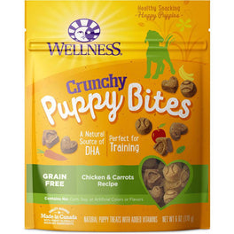 Wellness Crunchy Puppy Bites Chicken & Carrots Recipe Dog Treats 6oz